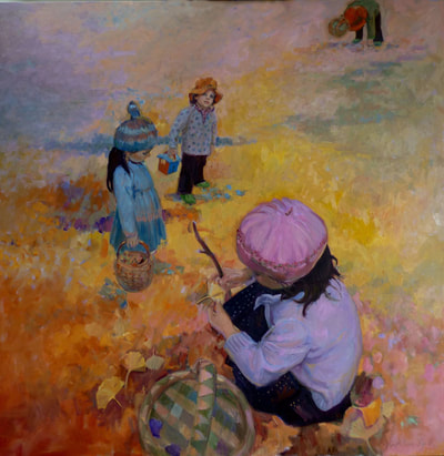 Collecting Leaves by Kathleen Lack