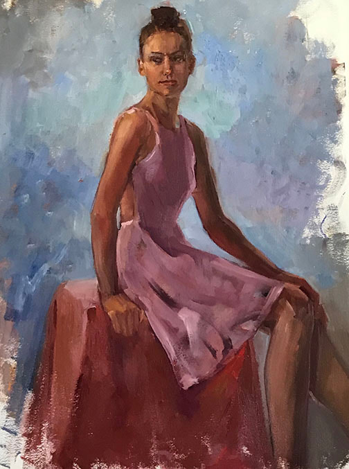 Leigh in Pink by Kathleen Lack