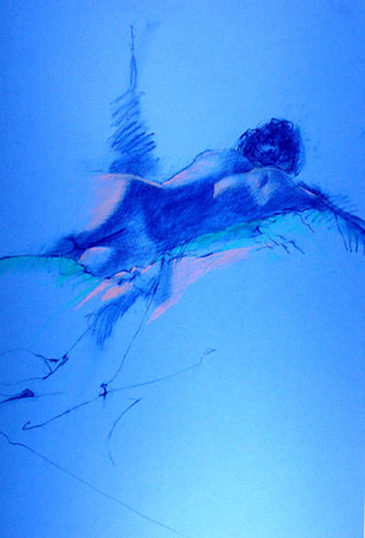 Reclining on Blue by Kathleen Lack