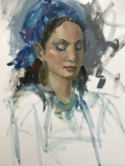 Rosie in Blue by Kathleen Lack