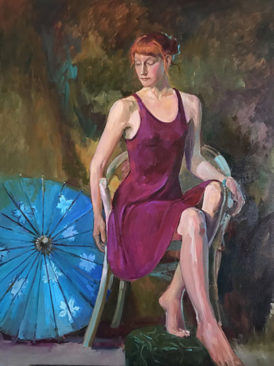 Turquoise Parasol by Kathleen Lack